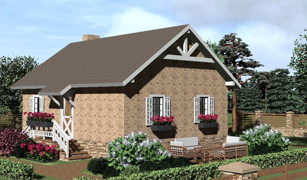 Маленький одноэтажный дом